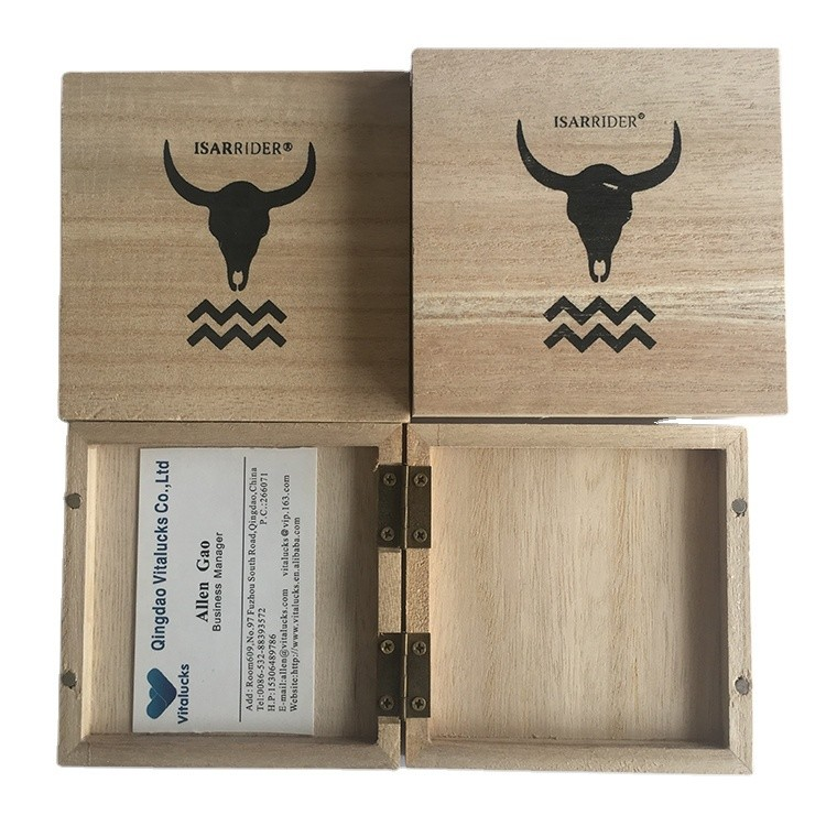 Custom unfinished simple useful wooden gift box large for packaging