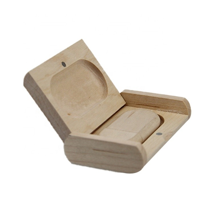 Shape beautiful wooden usb driver box with custom logo