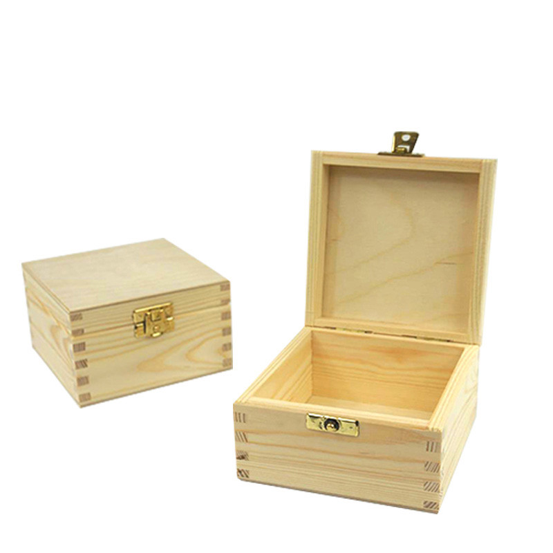 Small wooden gift boxes padlock for ornaments and jewelrywith lock