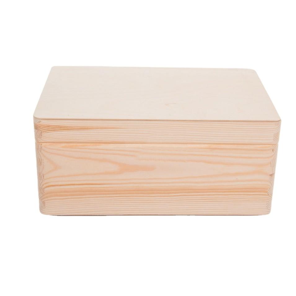 Accept custom rectangular wooden cutting box