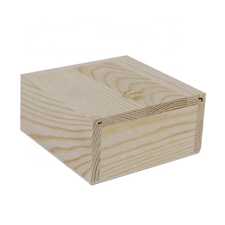 wholesale square sliding small wooden christmas candy packing box low moq jewellery wooden box