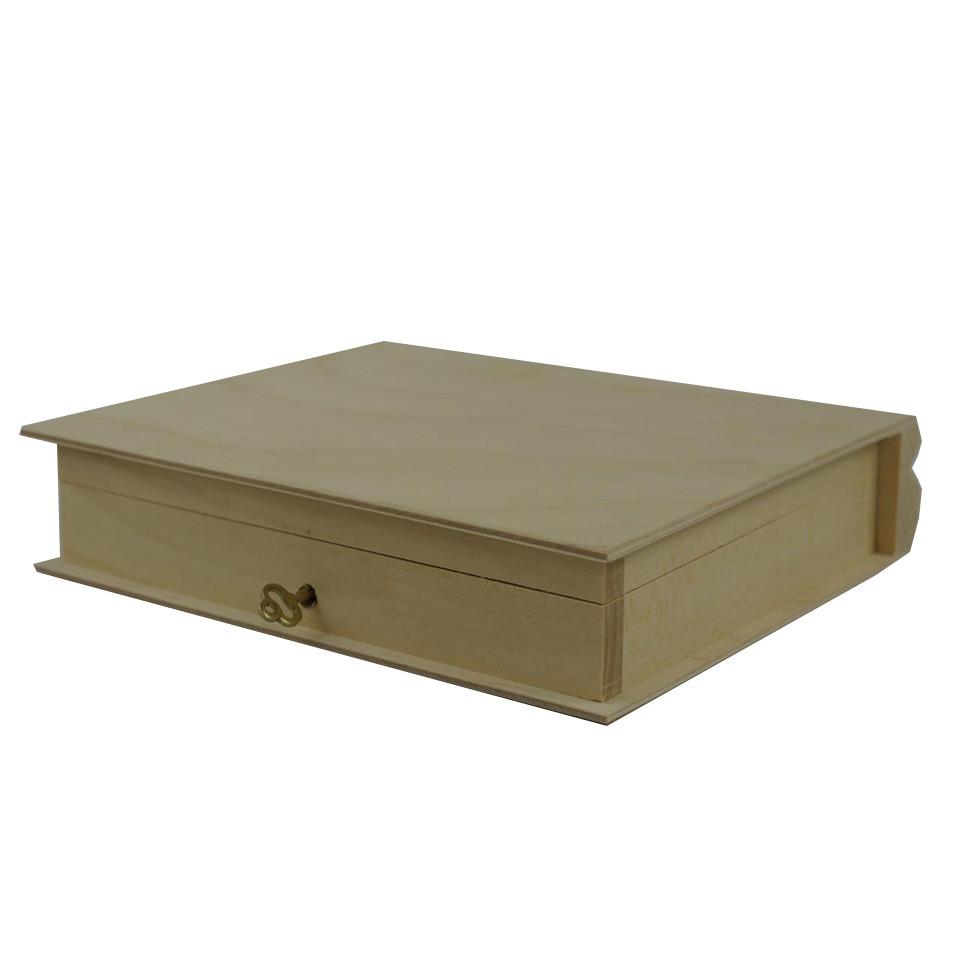Hot sale Customized fancy custom wood book shape storage box wooden book box