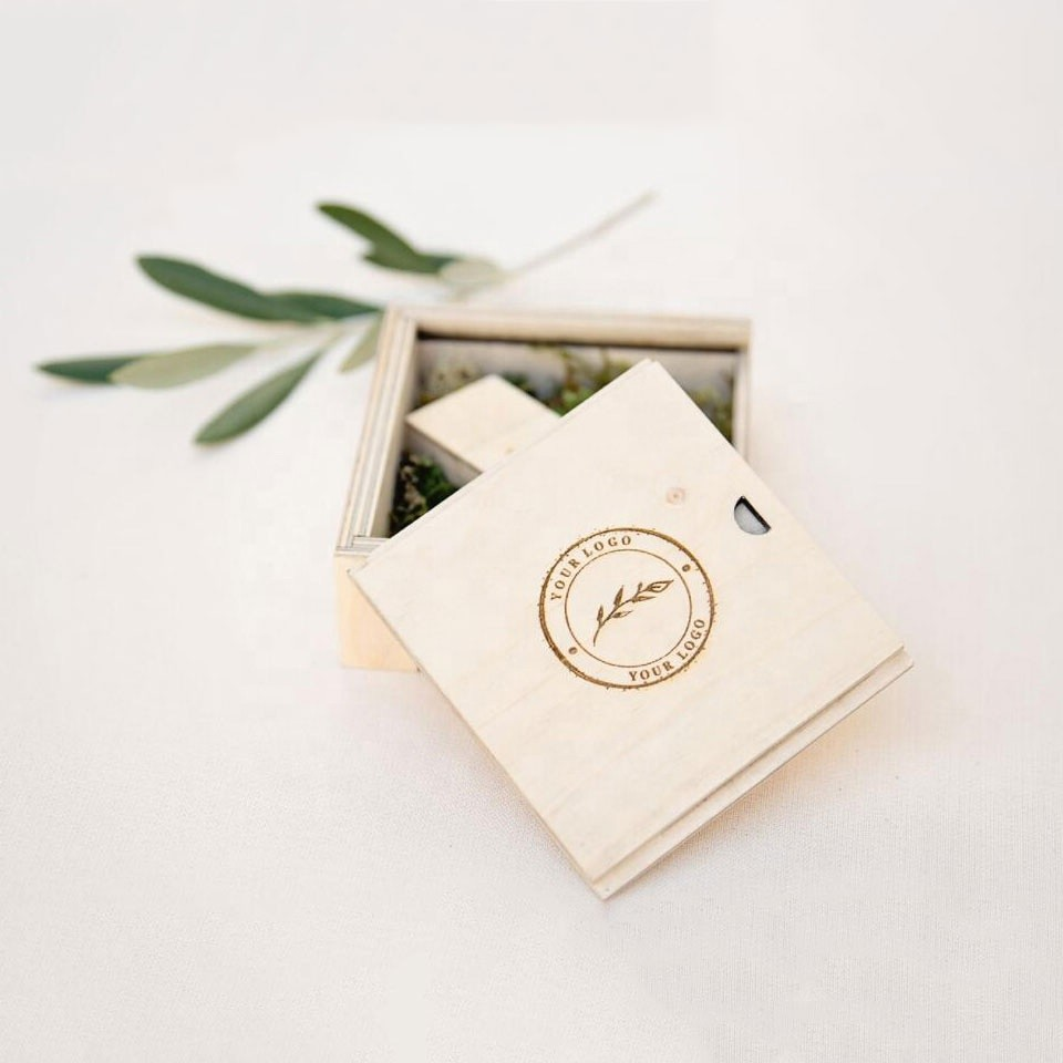 Vitalucks custom unique decorative small squared wooden christmas craft gift packaging boxes jewellery wooden box