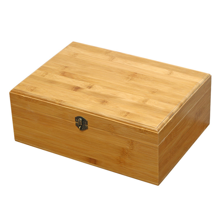 Wholesale eco-friendly bamboo rectangle wooden storage box 13x9x5cm