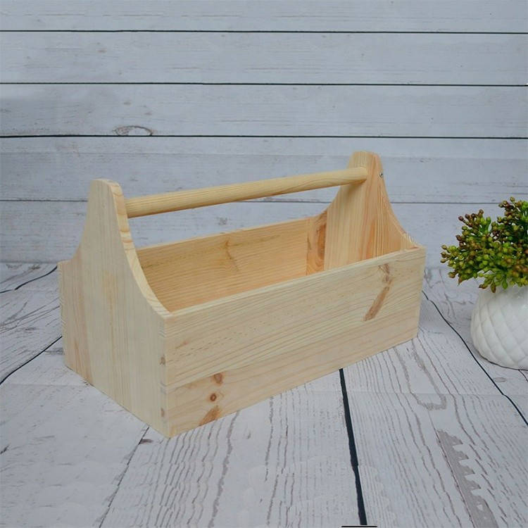 Wholesale crafts storage suitcase wooden tool box