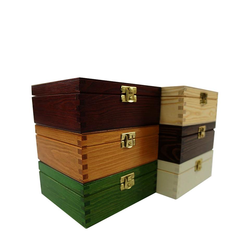 Luxury useful design custom printing wooden jewelry boxes with locks