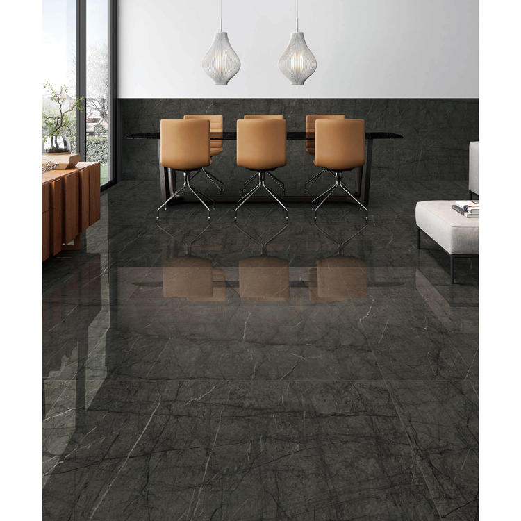 Living room glazed polished floor tiles and wall tiles