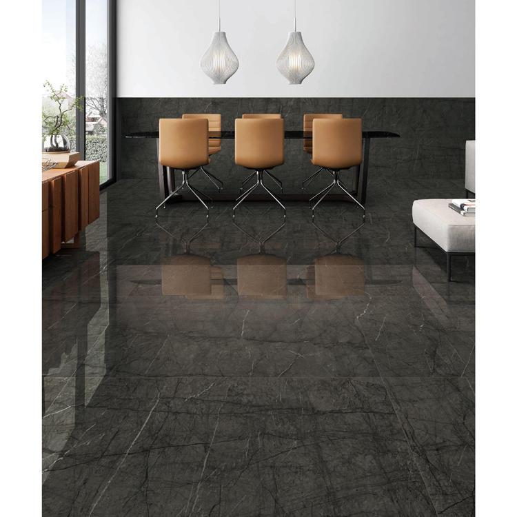 Living room glazed polished floor tiles and wall tiles