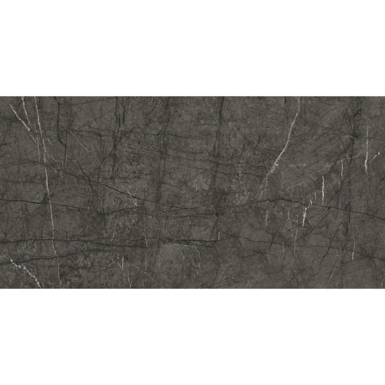 Living room glossy large size grey full polished glazed tile 1200x600 gray ceramic floor tile