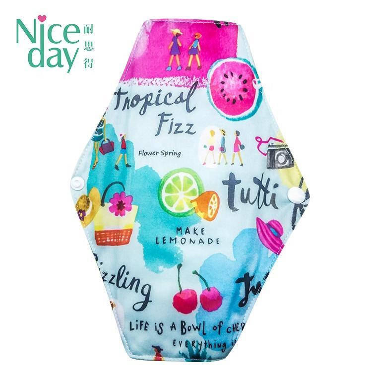 Brand name sanitary napkin wonderful reusable menstrual pad for free sample