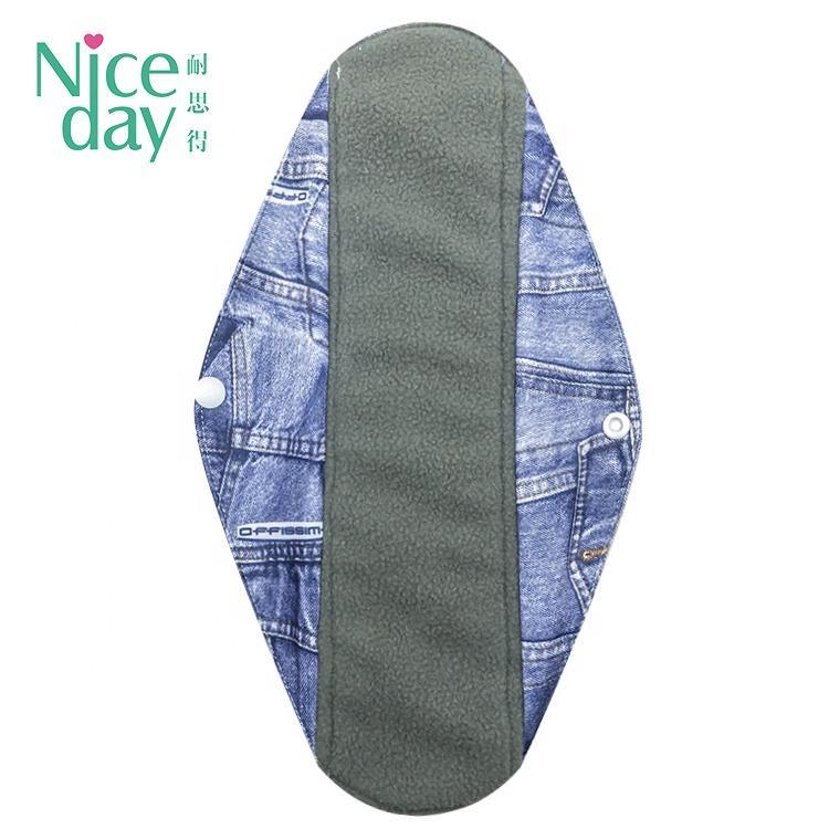 Wholesale bamboo washable cloth menstrual pads reusable sanitary pad