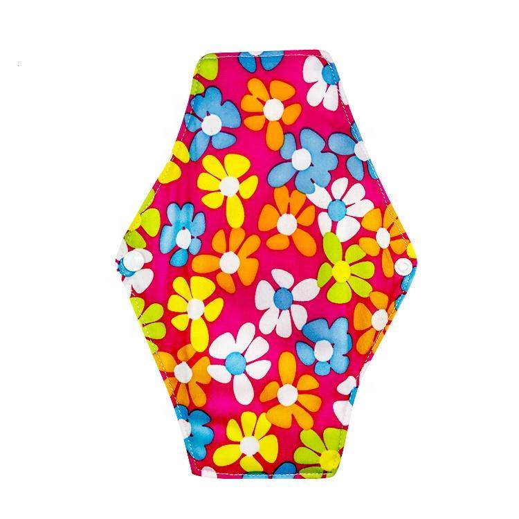 Custom reusable sanitary pads colorful period menstrual pad