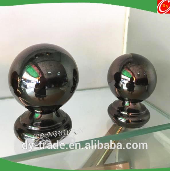 Mirror Black Stainless Steel Handrail Balls for Railing