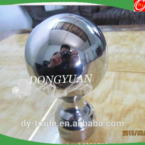 high polish stainless steel handrail balls with base