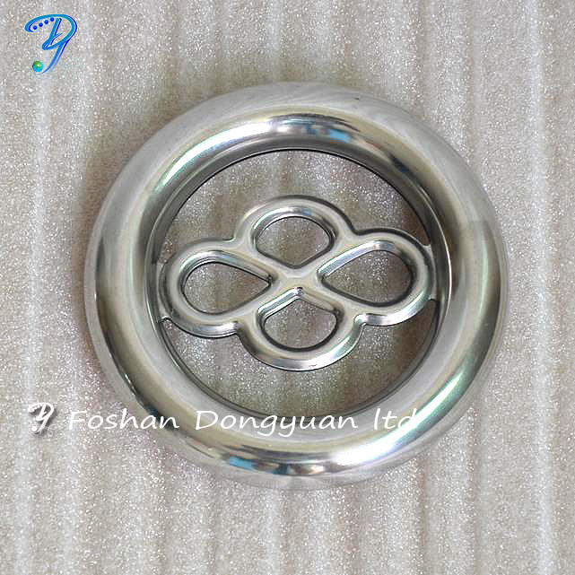 Metal Door and Window Decorative Railing Ring Accessories, Polished Stainless SteelRailing Ring
