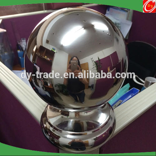 Post mounted stainless steel ball for balustrade