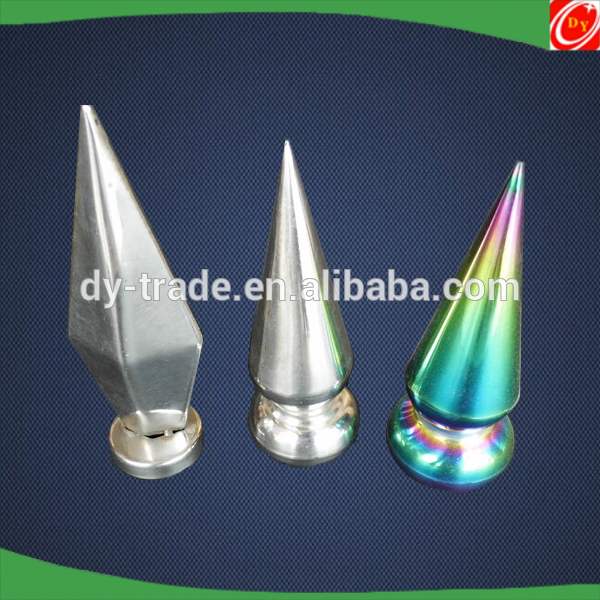stainless steel spear with base for gate fence railing accessories