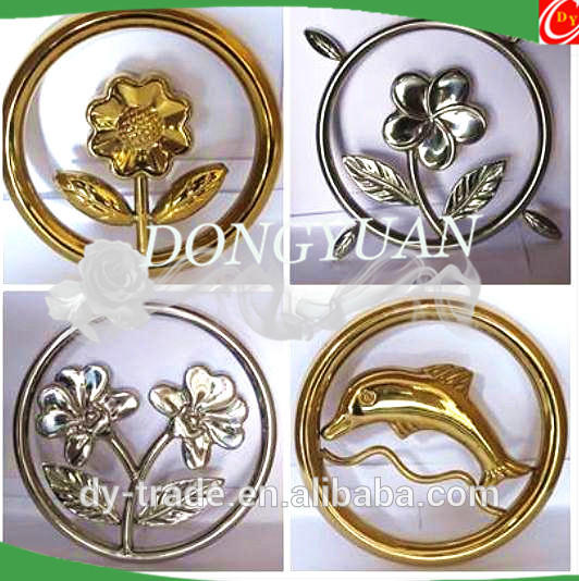 stainless steel double fish rosettes for gate accessories, metal door hardware