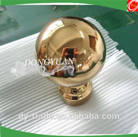 gold stainless steel decorative handrail ball