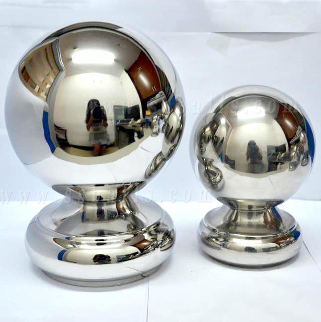 Stainless Steel Decorative Ball with Base for Handrail Stair Fittings