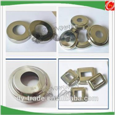 stainless steel decorative cover,metal round base cover for stair accessory