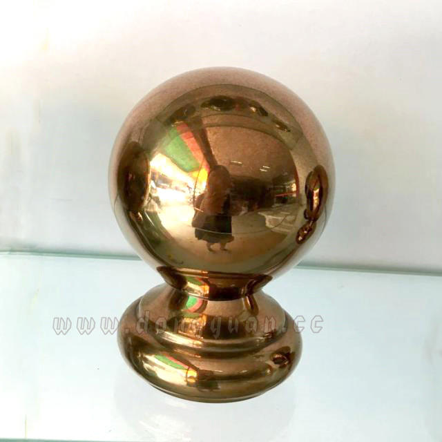 80mmGazing Stainless Steel Stair ball with Bottom for Handrail Accessories