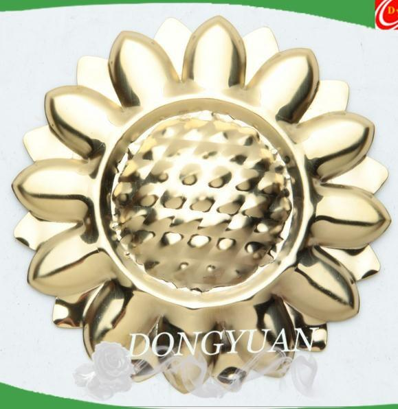stainless steel rosettes ,metal sunflower for gate accessories