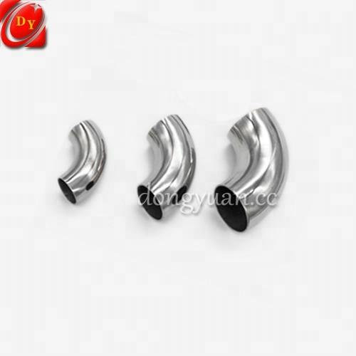 High Polish Stainless Steel Decorative Flange Elbow for Handrail Fittings