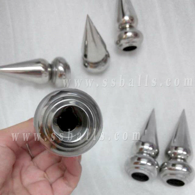 Stainless Steel Cone Spear with Base