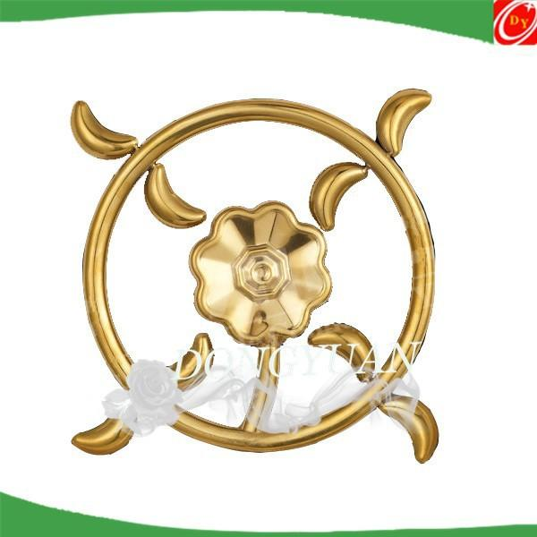 SS 304 stainless steel rosettes for door hardware, metal decorative flowers for gate accessories