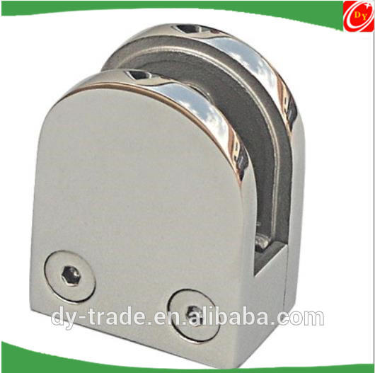 stainless steel casting glass clamp,glass holder, U shape glass clips