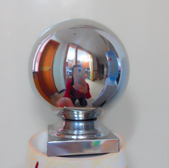 Hot sale stainless steel handrail ball center post for stair decoration