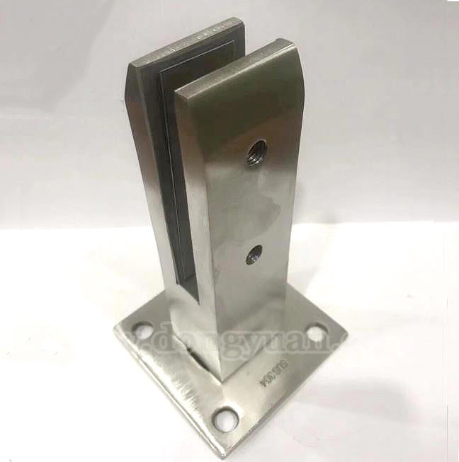12mm Stainless Steel Spigot Glass Clamps for Clear Toughened Frameless Glass