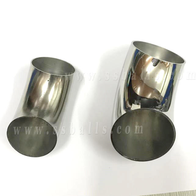 polish stainless steel pipe elbow, inox tube bend fitting