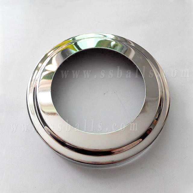 Stainless Steel Pipe Base Cover for Stair , Pipe Fittings