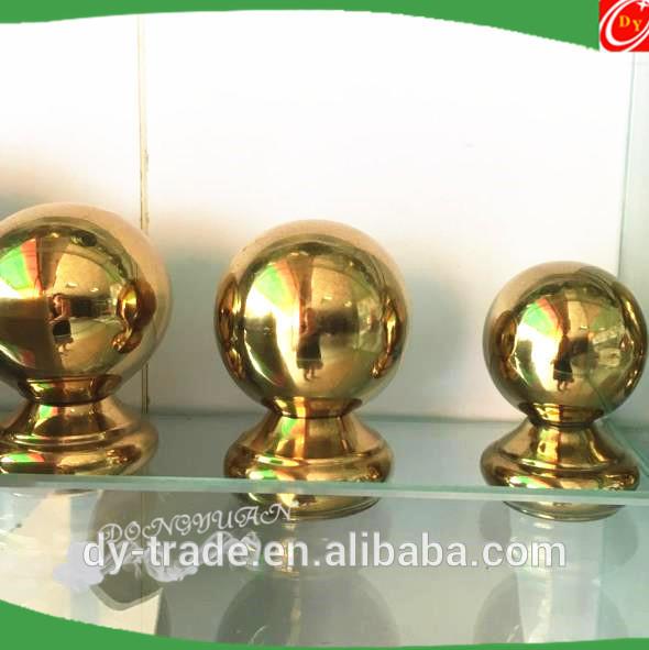 Golden Stainless Steel Handrail Balls for Pipe Railing Decoration