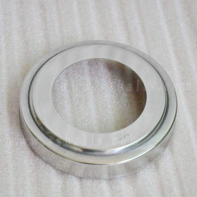 Stainless Steel Base Cover for Tube, Flange Cover, Round bottom