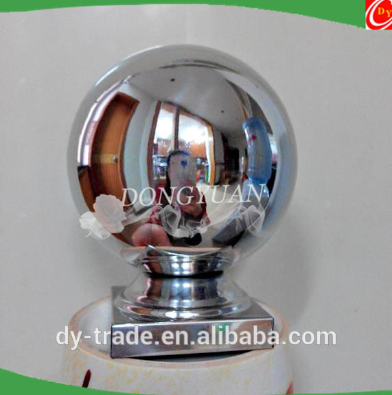 balcony railing stainless steel ball with base,steel handrai balls for square pipe