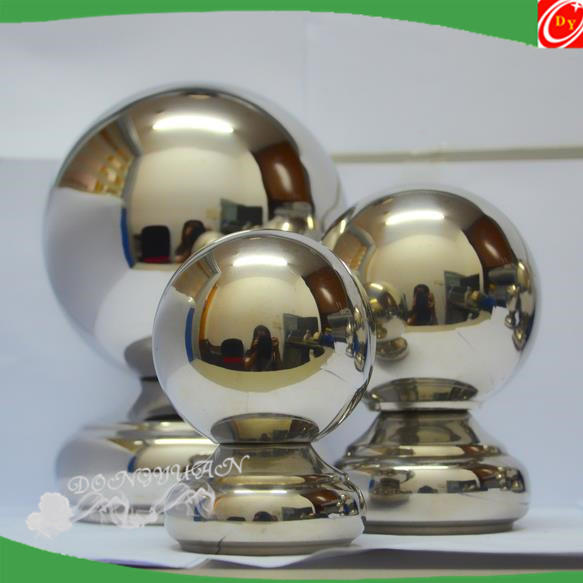 304 stainless steel metal solder ball Siamese tee ball holder hollow decorative seamless hollow sphere Collectibles