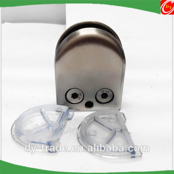 D Shaped Glass Clamps, glass brackets fittings