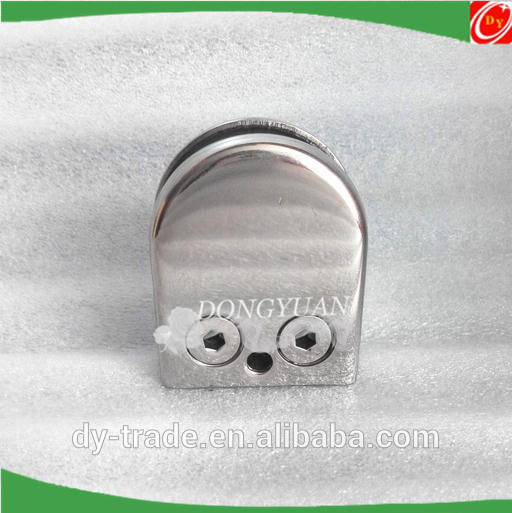 mirror polished stainless steel glass clamps,handrial glass holders