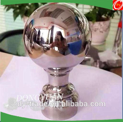 Stainless steel handrail ball with down cover, stainless steel stair fittings