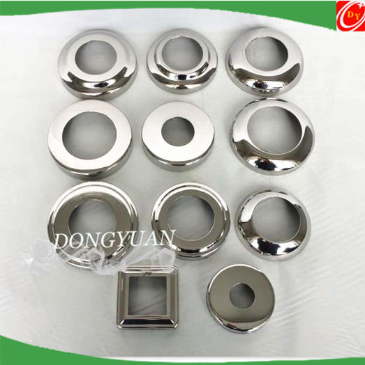 stainless steel decorative pipe coverings , stair railing down cover