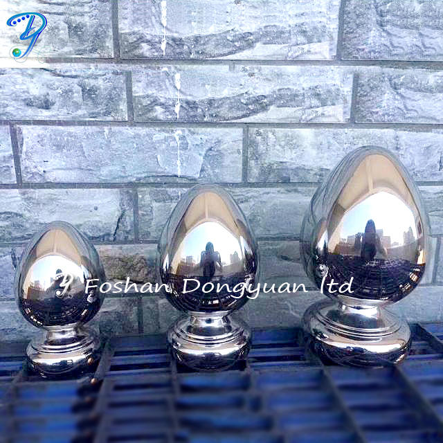 Stainless Steel Railing Egg Sphere, Steel Balcony Railing, SS Stair Railing and Outdoor Metal Handrail Ball