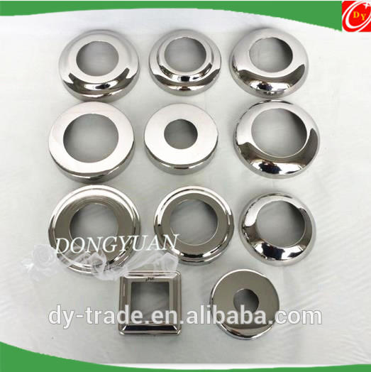 inox flange cover for handrail fittings,stainless steel down cover