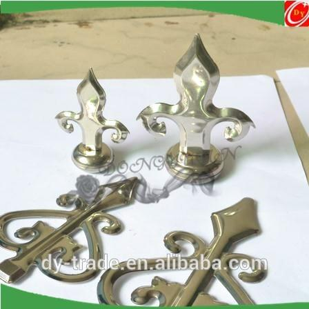 stainless steel spear with base for decorative fittings