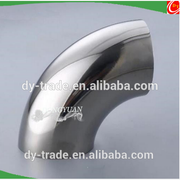 90 degree elbow, stainless steel sanitary elbow fitting ,pipe bend for handrail fitting
