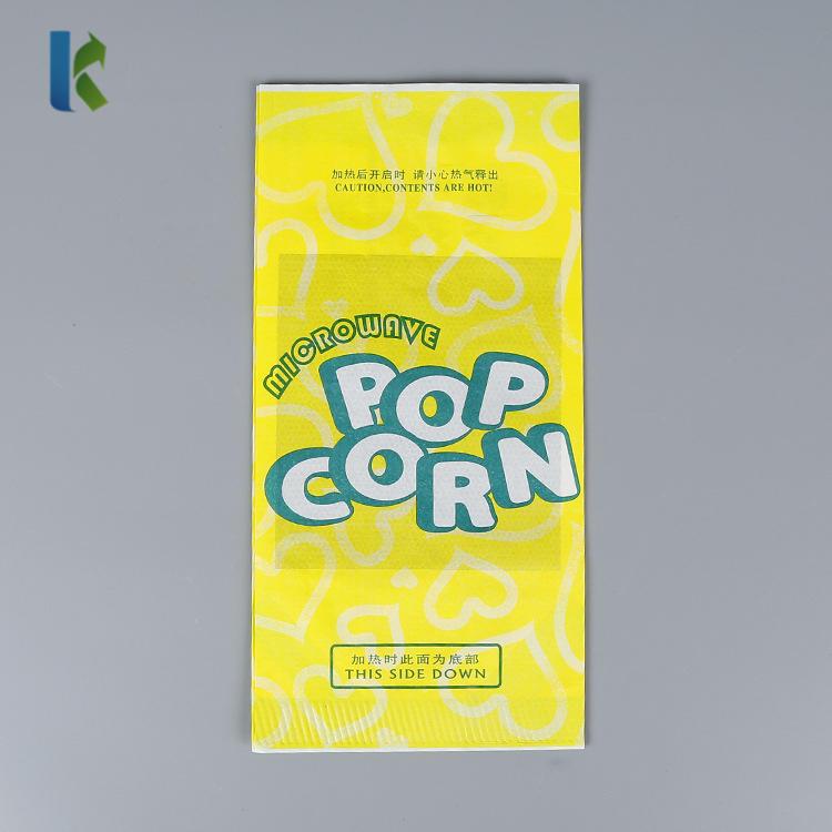 Corn sealable Para Microondas Bolso Wholesale Logo Kraft Factory Craft Custom Print Popcorn Bags