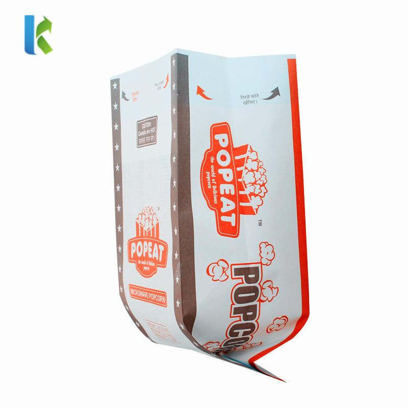 New Sealable Large Microondas Corn Kraft Para Bulk Logo Factory Bolso Popcorn Printed Bag