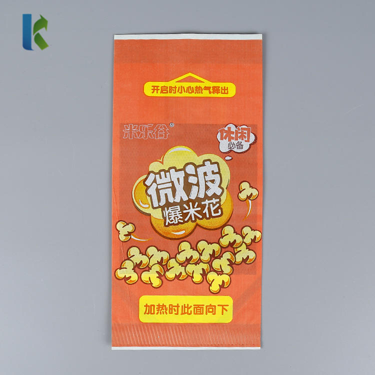 Wholesale Microwave Paper Greaseproof Custom Large Logo Printed New Design Craft Paper Popcorn Bag